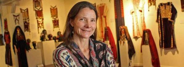 "Isabella de la Houssaye, Curator of the ""Decoding The Veil"" exhibition at Material Culture"